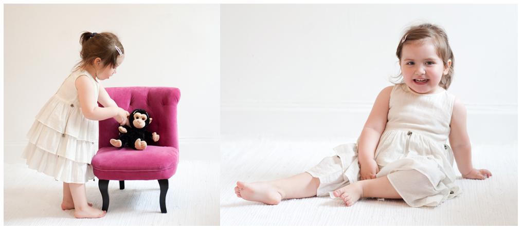 2 årig flicka, ljust, vit, rosa