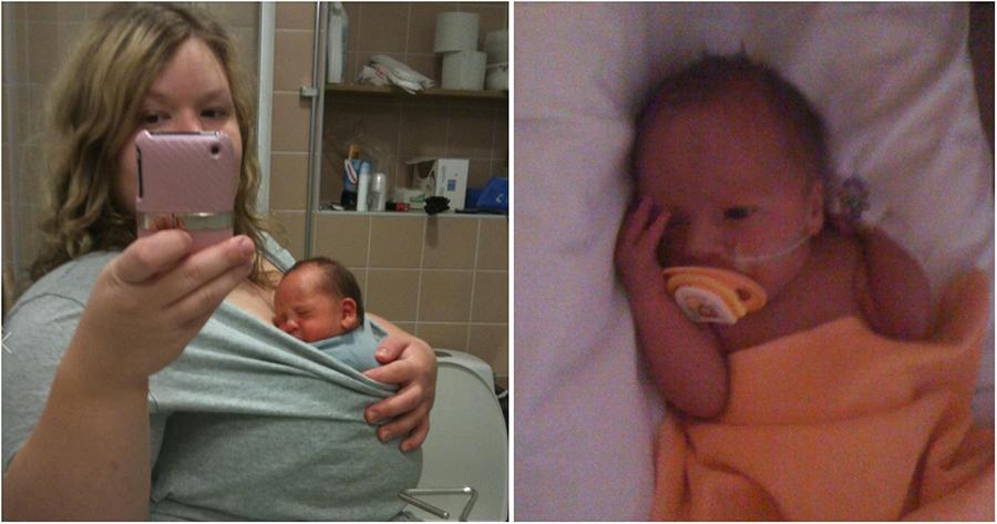 Emma och bebis